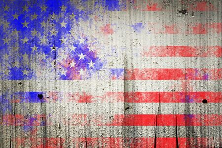 bad day: Grunge textured of USA flag for USA Independence Day