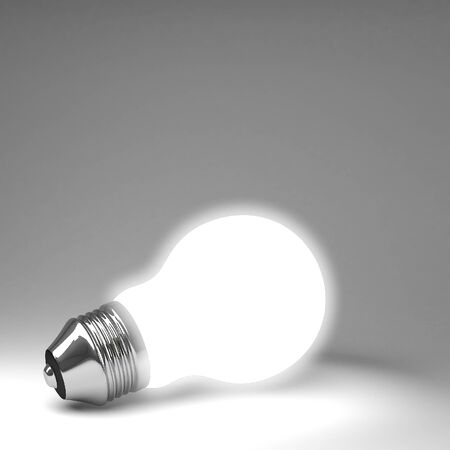 Light bulb 3d rendering photo