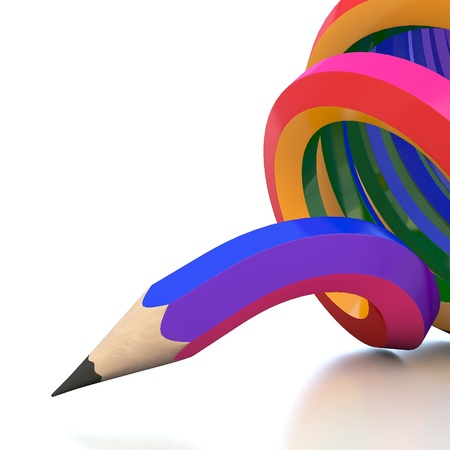 Abstract background line of colour pencil illustration illustration