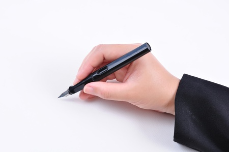 Hand drawing on white background with clipping path photo
