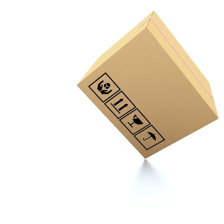 despatch: Cardboard boxes on white background 3d illustration