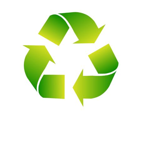 environmental protection: Green recycle icon on white background