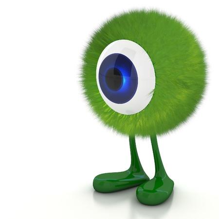 Single eye monster Stock Photo