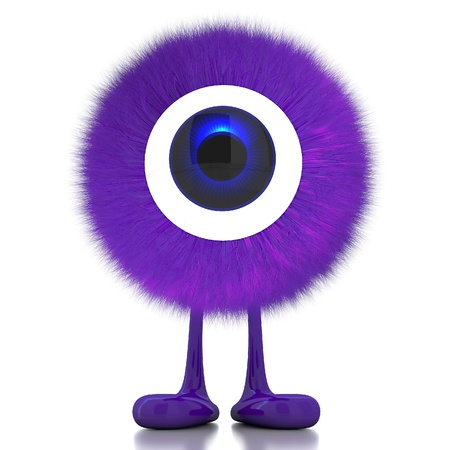 Single eye monster Stock Photo