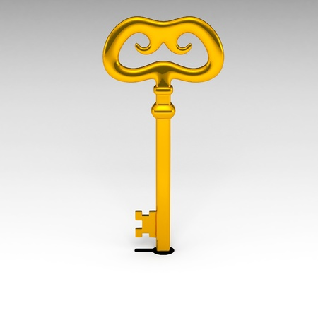 Golden key and keyhole  photo