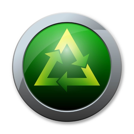Button of recycle icon photo