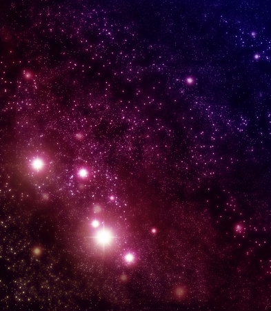 nebulous: Starry background of stars and nebulas in deep outer space Stock Photo