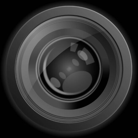 Camera photo lens, vector illustration. illustration