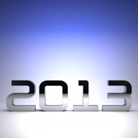 3D happy new year chrome 2013 Stock Photo - 17022984
