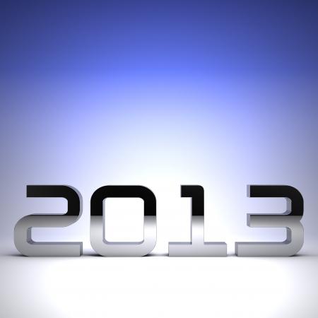 3D happy new year chrome 2013