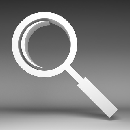 len: 3d Magnifying glass icon