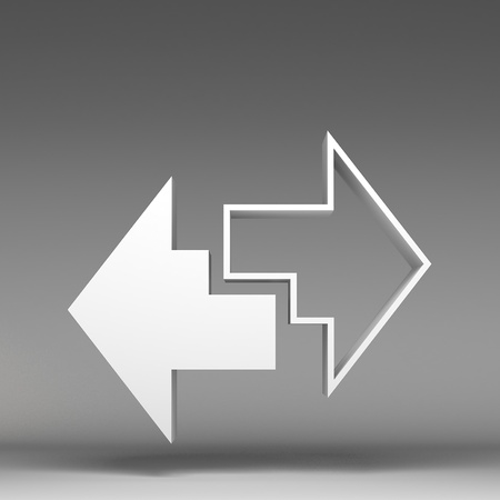 diminishing point: 3d arrows icon