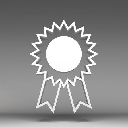 3d award ribbon rosette icon photo