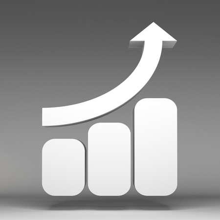 3d business graph icon photo