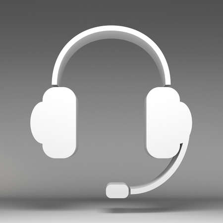 3d headphone icon photo
