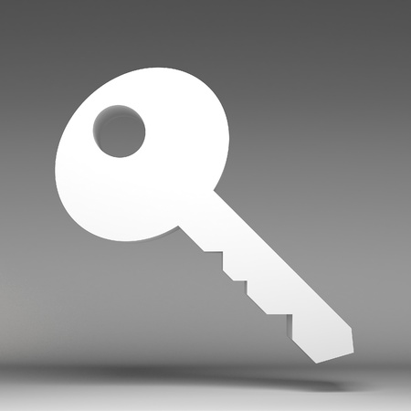 3d key icon photo