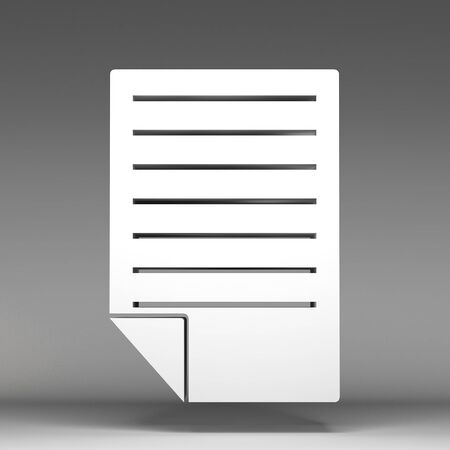 3d note paper icon photo
