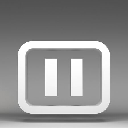 3d pause icon photo