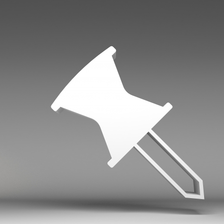 paper pin: 3d paper pin icon