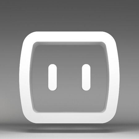 electric hole: 3d electrical outlet icon