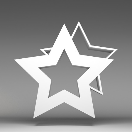 3d star icon Stock Photo - 17514418