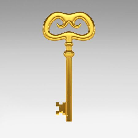 3d gold key photo