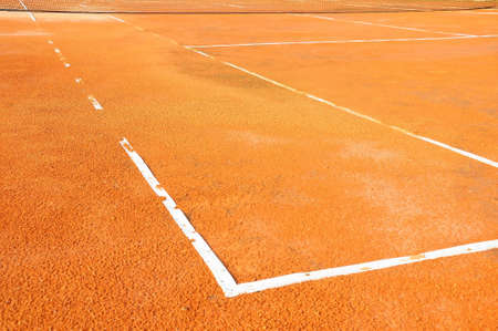 t square: Tennis court with net
