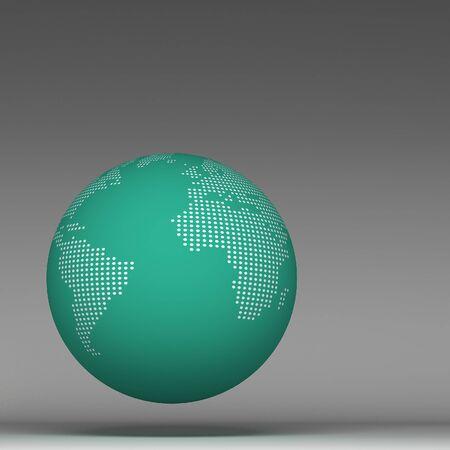 realist: 3d world global Stock Photo