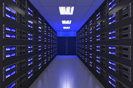 rechenzentrum: 3d Modernes Interieur des Server-Raum