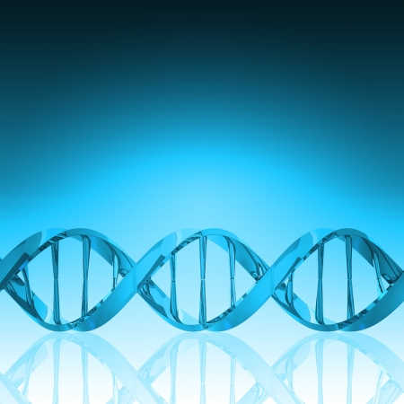 DNA structure model Stock Photo