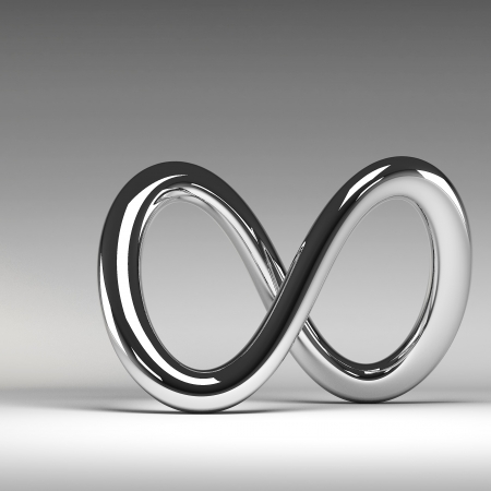 3D chrome abstract infinity sign photo