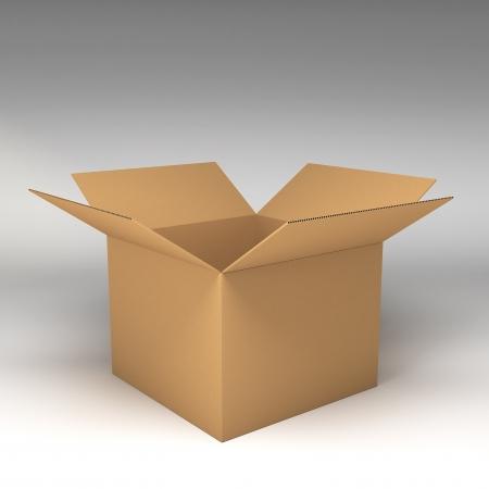 boxboard: Cardboard boxes 3d illustration Stock Photo