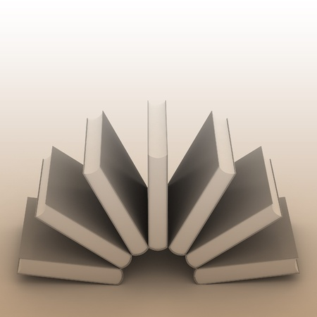 noname: 3d Blank book cover over white background