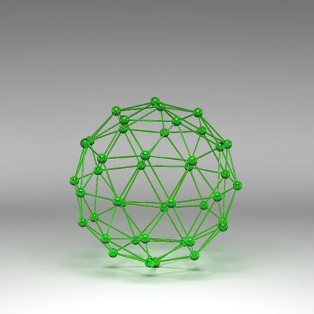 Reflective molecular structure photo