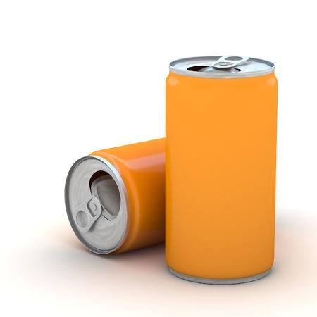 Metaal aluminium drank Kan Stockfoto