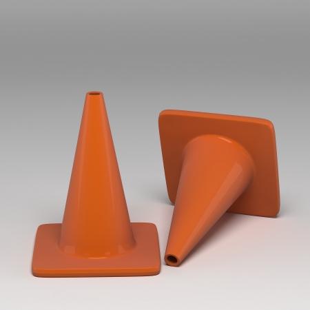 roadwork: 3d traffic cone