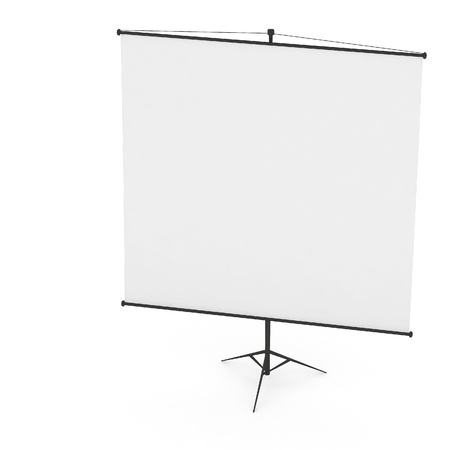 3d Blank Projection screen photo