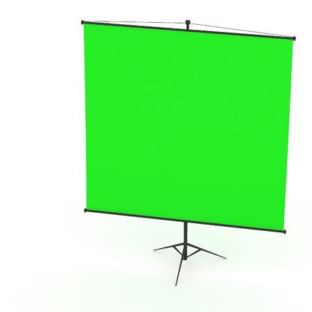3d lege projectiescherm Stockfoto