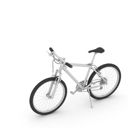 3d fiets geïsoleerd op witte achtergrond Stockfoto