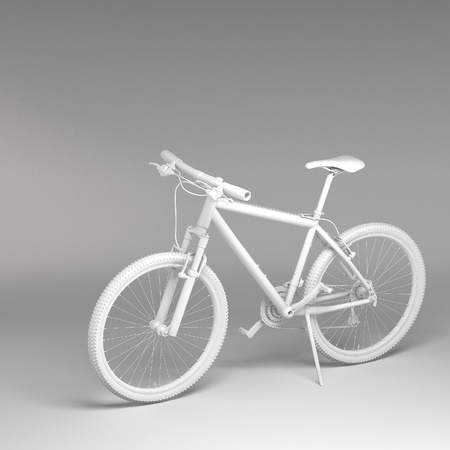 off road biking: 3d Bicycle isolated on white background