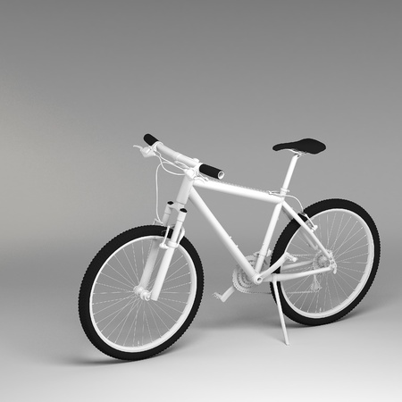 shifter: 3d Bicycle isolated on white background