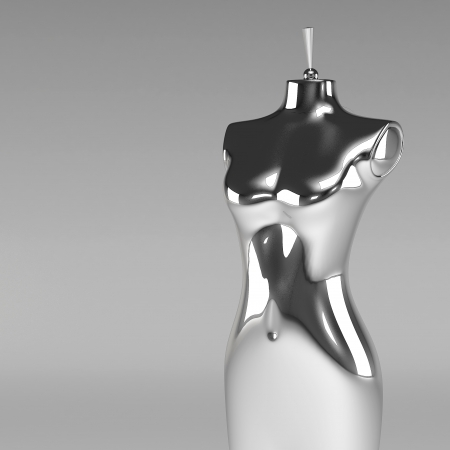 ladies bust: 3d female fashion mannequin