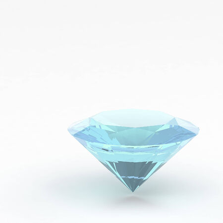 3d Diamond isolated photo