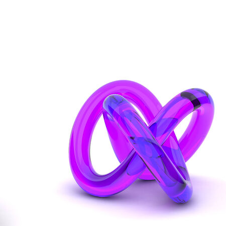 3D rendering abstract knot photo