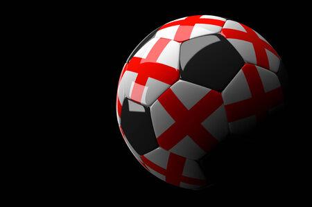 3d rendering England soccer ball on dark  background photo