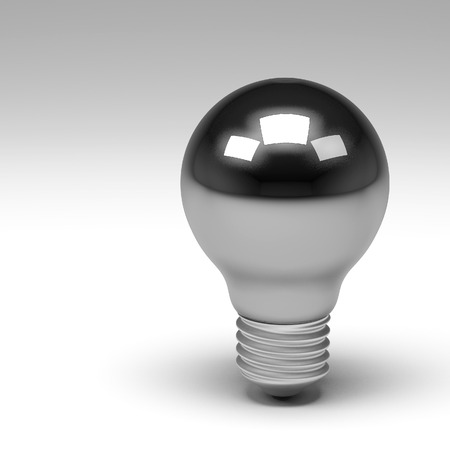 inventions: 3d rendering of lightbulb isolated Stock Photo