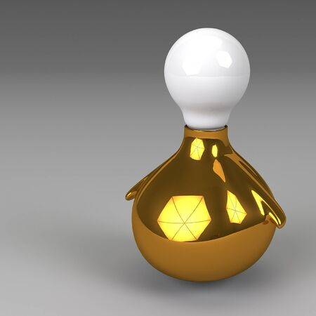 invent: 3d rendering of lightbulb isolated Stock Photo