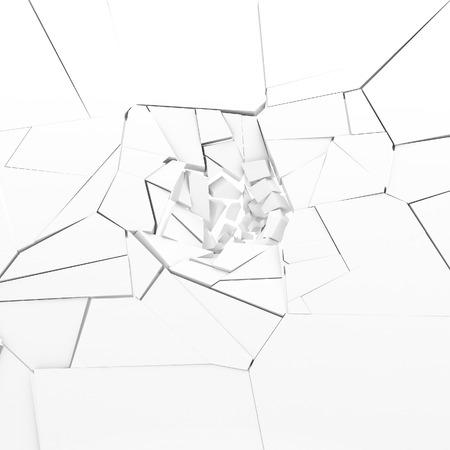 destruction: 3d rendering destruction of wall