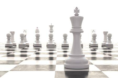 3d rendering chess pieces on glossy chessboard Zdjęcie Seryjne - 38485702
