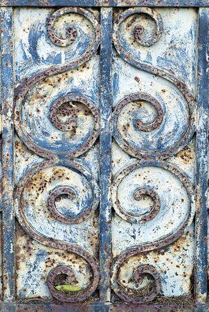 ironwork: Detail of Ironwork on Old Door